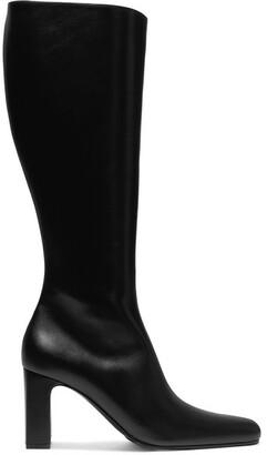Balenciaga Leather Knee Boots - Black