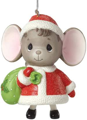 Precious Moments The Holidays Are Mice With You Glitter Christmas Ornament