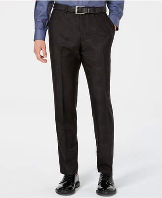 Bar III Men Slim-Fit Black Jacquard Suit Pants