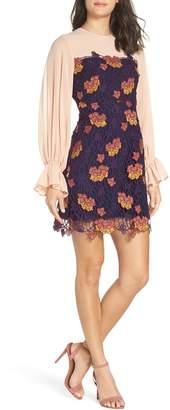 Foxiedox Dolores Blouson Lace Sheath Dress