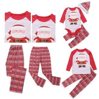 Pretty.auto Matching Family Pajamas Set Christmas Santa Plaid Sleepwear  Nightwear d1b8eb472