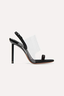 Alexander Wang Kaia Pvc And Suede Slingback Sandals - Black