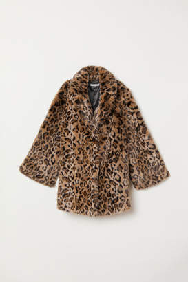 H&M H&M+ Faux Fur Coat - Black