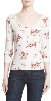 Women's Rebecca Taylor Marguerite Floral Jersey Tee $195 thestylecure.com