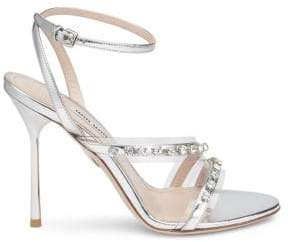 Miu Miu Embellished High Heel Sandals