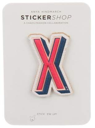 Anya Hindmarch Leather Alphabet Sticker w/ Tags