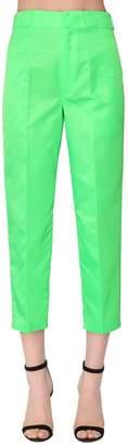 Prada Mid Rise Straight Leg Tech Canvas Pants