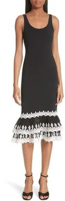 Jonathan Simkhai Diamond Crepe Applique Dress