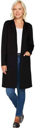 Denim & Co. Studio by Long Sleeve Collared Duster with Pockets