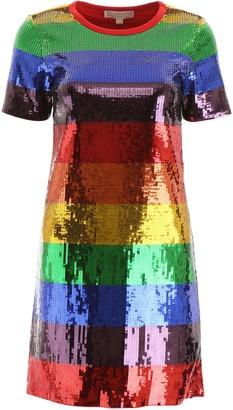 MICHAEL Michael Kors Multicolor Sequin Mini Dress