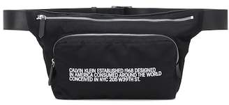 Calvin Klein Leather-trimmed belt bag