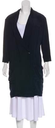 Miu Miu Silk Knee-Length Coat