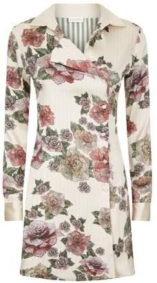 La Perla Maps In Bloom Floral Print Bi-Stretch Silk Short Dress