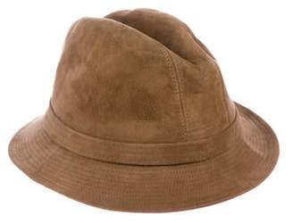 Borsalino Satin-Lined Suede Hat