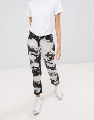 Glamorous tie dye Ripped Boyfriend Jeans