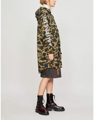BAPE Logo and camouflage-print shell jacket