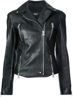 Yang Li biker jacket