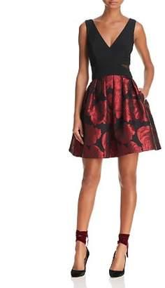Aqua Floral Brocade Party Dress - 100% Exclusive