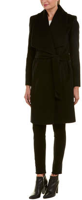 Cole Haan Wool-Blend Wrap Coat
