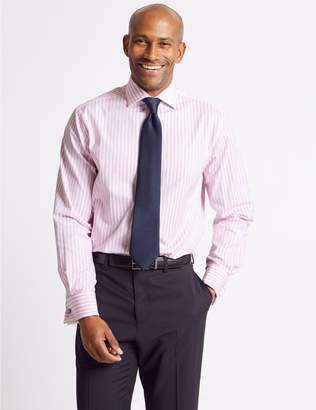 Marks and Spencer 2in Longer Pure Cotton Regular Fit Shirt
