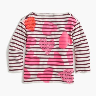 Girls' tossed hearts striped T-shirt $39.50 thestylecure.com