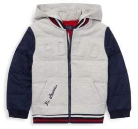 Ralph Lauren Little Boy's& Boy's Double Knit Varsity Jacket