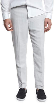 Vince Relaxed Linen-Blend Cropped Trousers $265 thestylecure.com