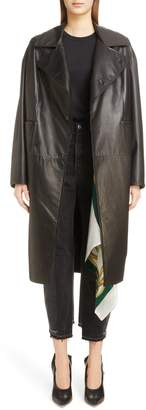 Toga Long Leather Coat