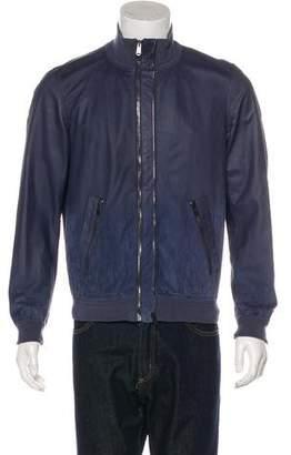 Saint Laurent Dégrader Leather Bomber Jacket