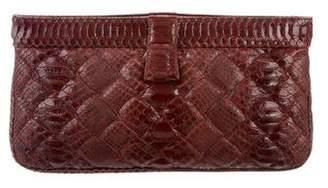Bottega Veneta Python Leather Clutch