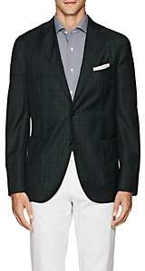 "Boglioli Men's ""K Jacket"" Plaid Wool Two-Button Sportcoat - Grn. Pat."