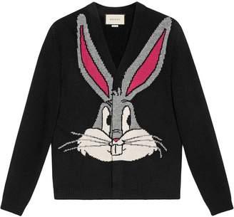 Gucci Bugs Bunny wool knit cardigan