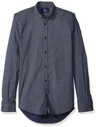 Scotch & Soda Men's Classic Shirt in Cotton/Elastane Quality with Fixed Collar