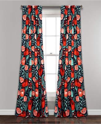 "Lush Decor Poppy Garden Room Darkening 95""x52"" Window Panel Set"