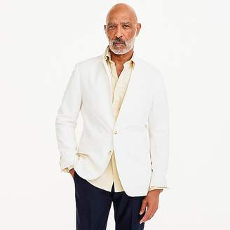 J.Crew Ludlow Slim-fit unstructured suit jacket in white cotton-linen