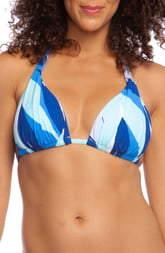La Blanca Palm Reader Halter Triangle Bikini Top