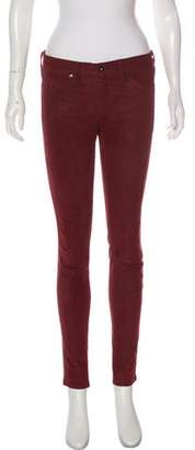 Rag & Bone Lamb Leather Skinny Jeans