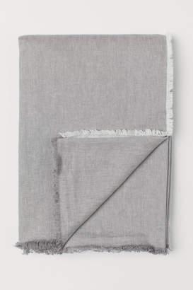 H&M Linen-blend Bedspread - Gray