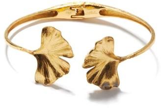Aurelie Bidermann Fine Jewellery Fine Jewellery - Ginkgo Leaf 18kt Gold Bracelet - Womens - Gold