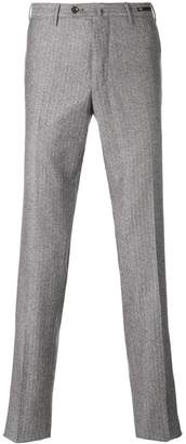 Pt01 textured straight leg trousers