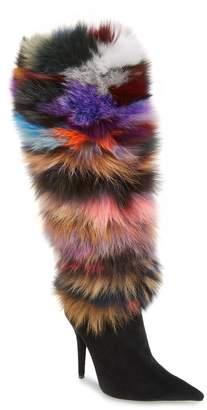 Jeffrey Campbell Gamor Genuine Rabbit Fur Boot