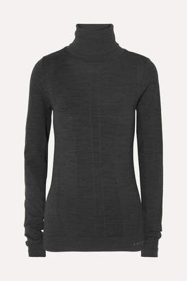 Falke Ergonomic Sport System - Wool-blend Turtleneck Top - Charcoal