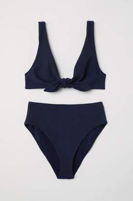 H&M Knot-detail Bikini - Dark blue - Women