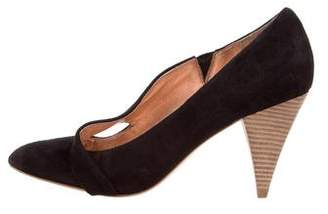 Belle by Sigerson Morrison Suede Pointed-Toe Pumps