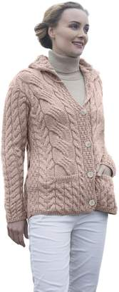 Carraigdonn Carraig Donn Ladies Buttoned Cabled Cardigan (XLarge, )