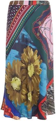 Moschino Scarf Print Midi Skirt