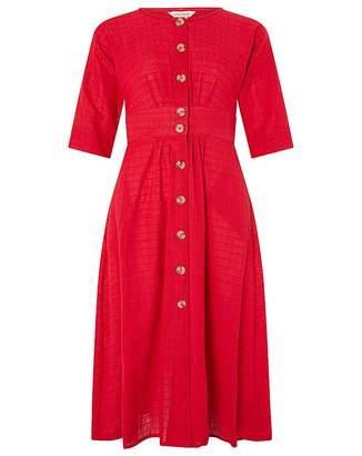 Monsoon Etna Cotton Midi Dress