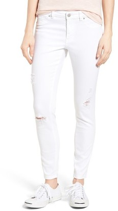 Women's Caslon Distressed Skinny Jeans $79 thestylecure.com