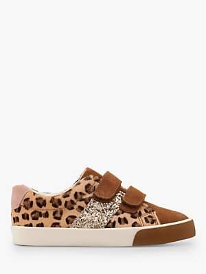 Boden Mini Leopard Sparkle Low Top Shoes, Tan