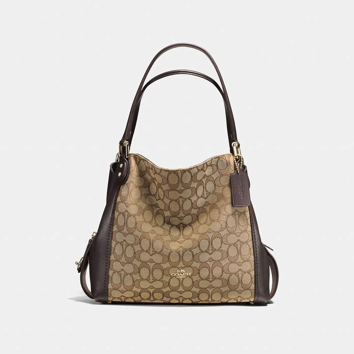 Coach   COACH Coach Edie Shoulder Bag 31 In Signature Jacquard